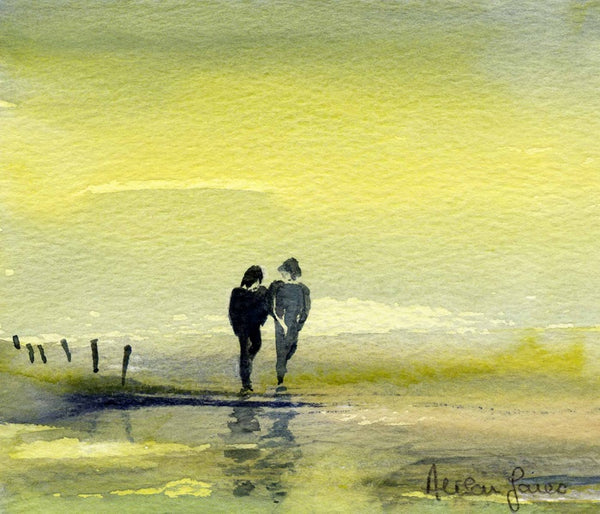 Alison Jones A Stroll In The Sand Print