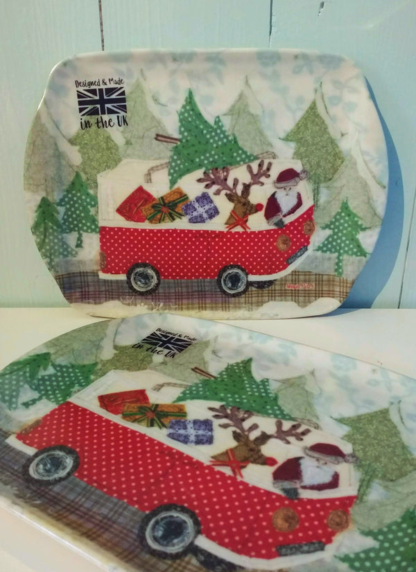 Abigail Mill, Santa's Camper Christmas Scatter Dish