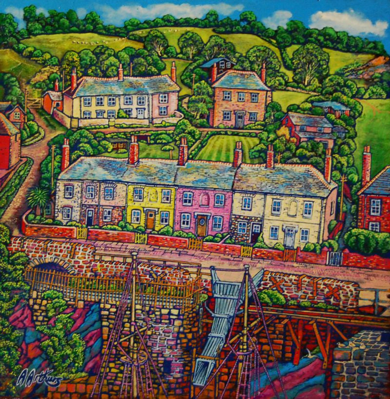 Clay Chutes and Cottages Charlestown by Alan Arthurs