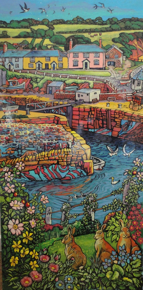 Cliff Rabbits & Sea Fox, Charlestown by Alan Arthurs