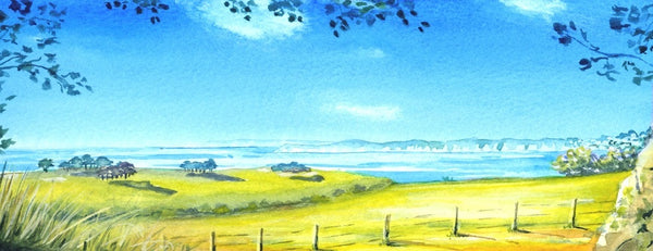 Alison Jones St Austell Bay From Biscovey Print