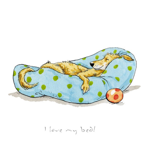 Anita Jeram A Dog's Life, I Love My Bed! print