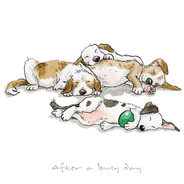 Anita Jeram A Dog's Life, After A Busy Day, print