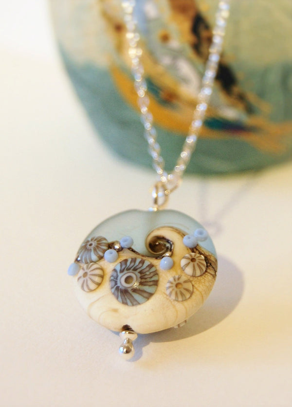 Sea Spray Large Lentil pendant