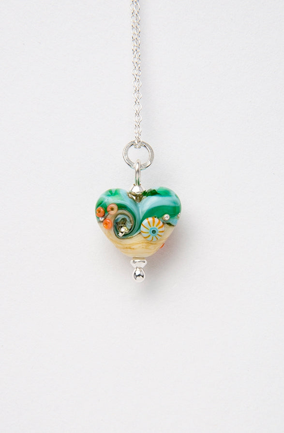 Sand & Sea Beach Babe Heart  pendant