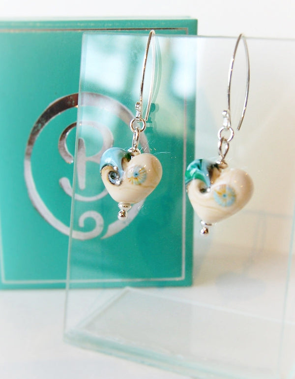 Sand & Sea Heart Earrings