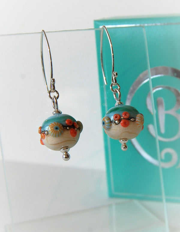 Sand & Sea Round Earrings