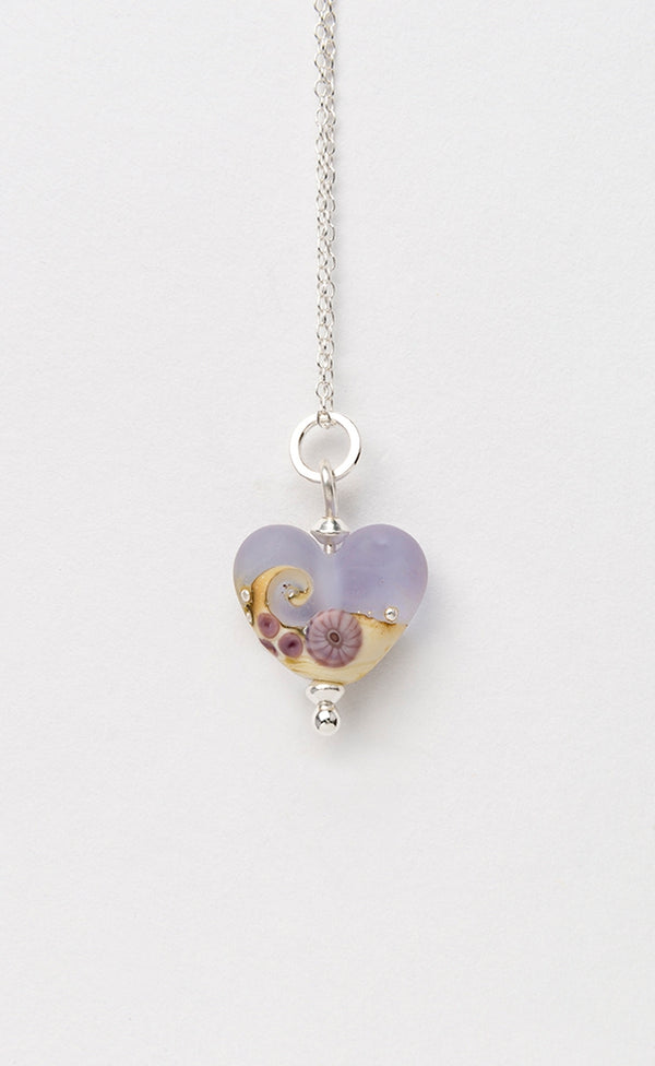 Sea Mist Beach Babe Heart  pendant
