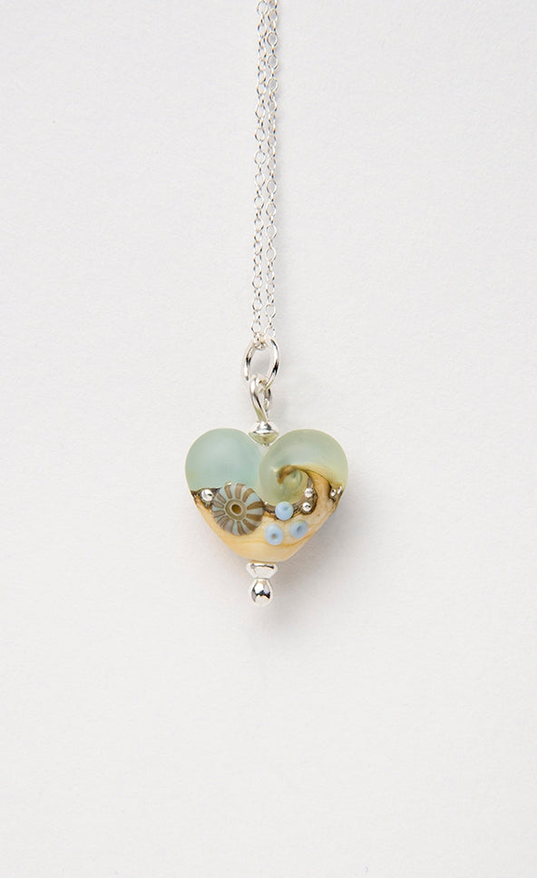 Sea Spray Beach Babe Heart  pendant