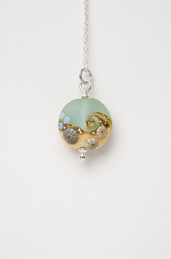 Sea Spray Beach Babe Lentil pendant