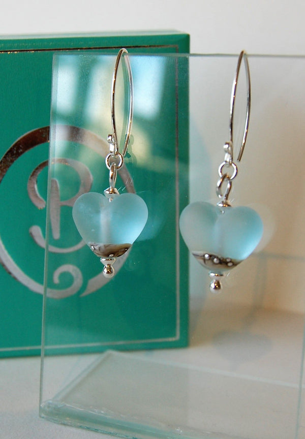 Sea Spray Heart Earrings