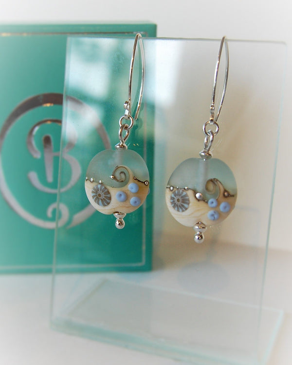 Sea Spray lentil earrings