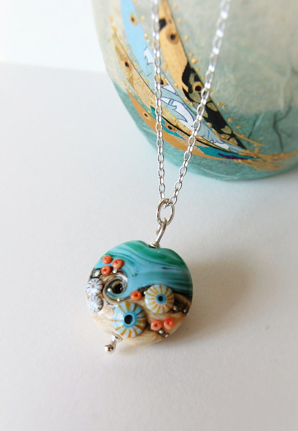 Sand & Sea Large Lentil pendant