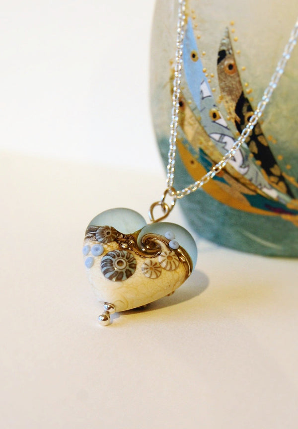 Sea Spray Large Heart pendant