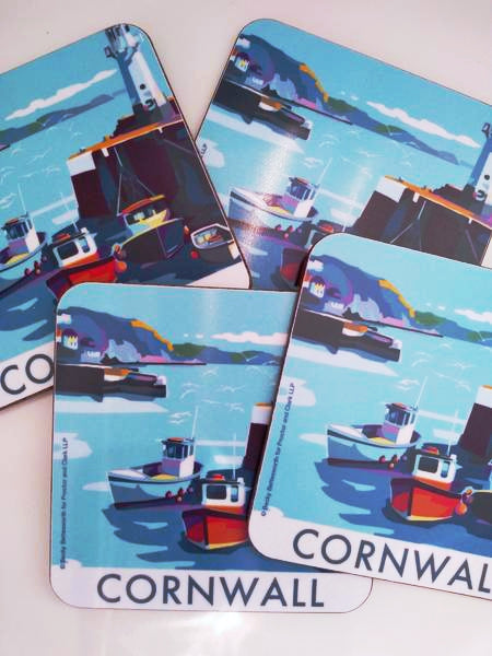 Becky Bettesworth Cornwall Mevagissey coaster