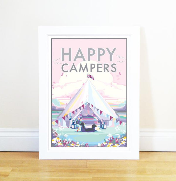 Becky Bettesworth Happy Campers print