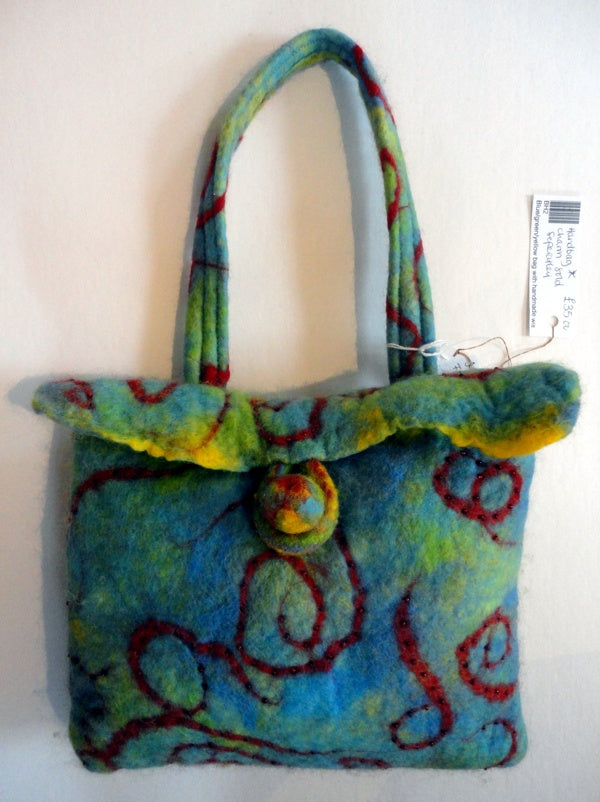 Beverley Harris, Multi-coloured Felted Bag