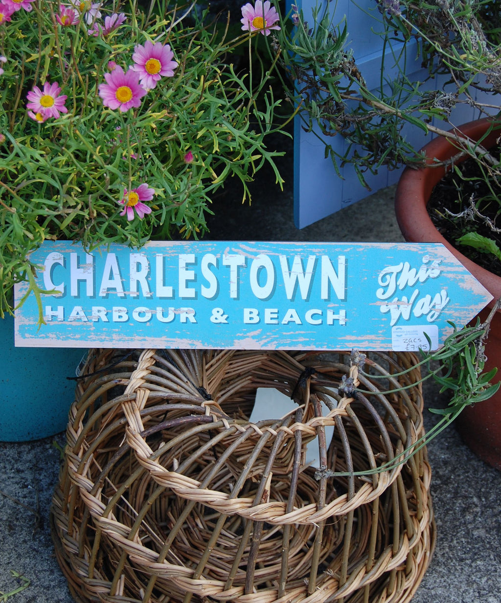 Charlestown coastal sign (turquoise)