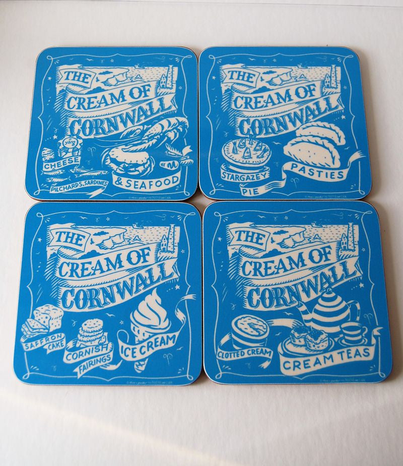 Cream Of Cornwall Coasters