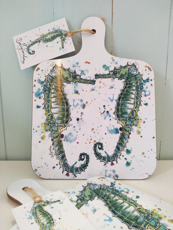 Dollyhotdogs Seahorse small chopping board