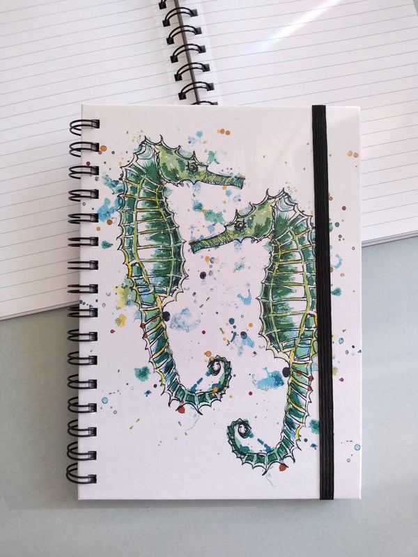 Seahorses hardback notebook by Dollyhotdogs