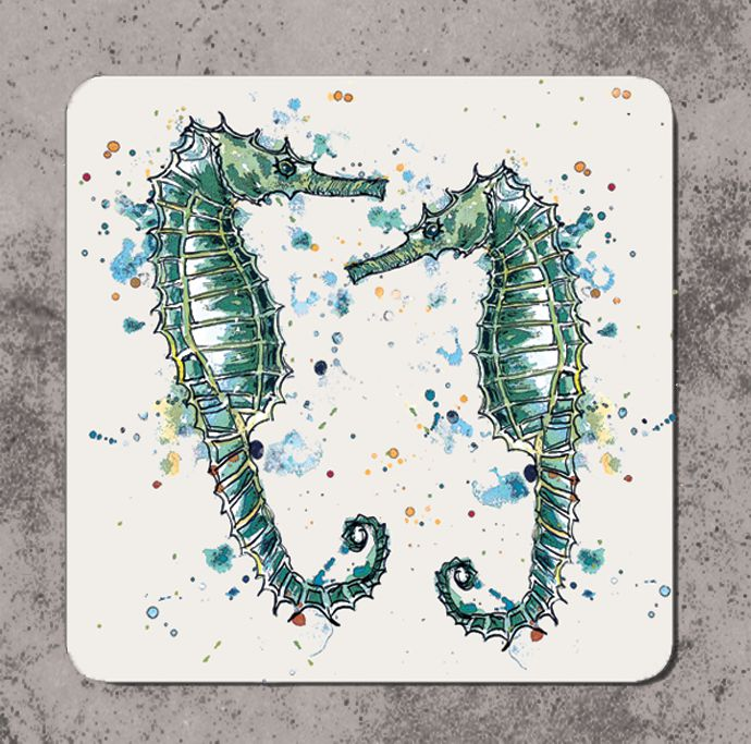 Dollyhotdogs-Seahorses-Coaster-C00015
