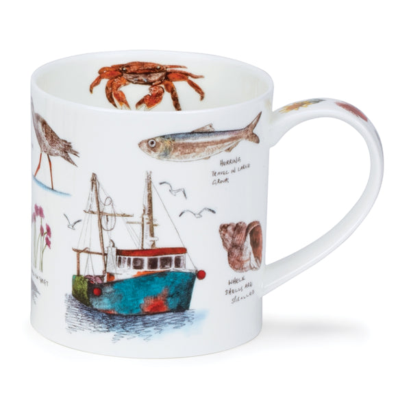 Seaside Notebook Fishing Boat mug