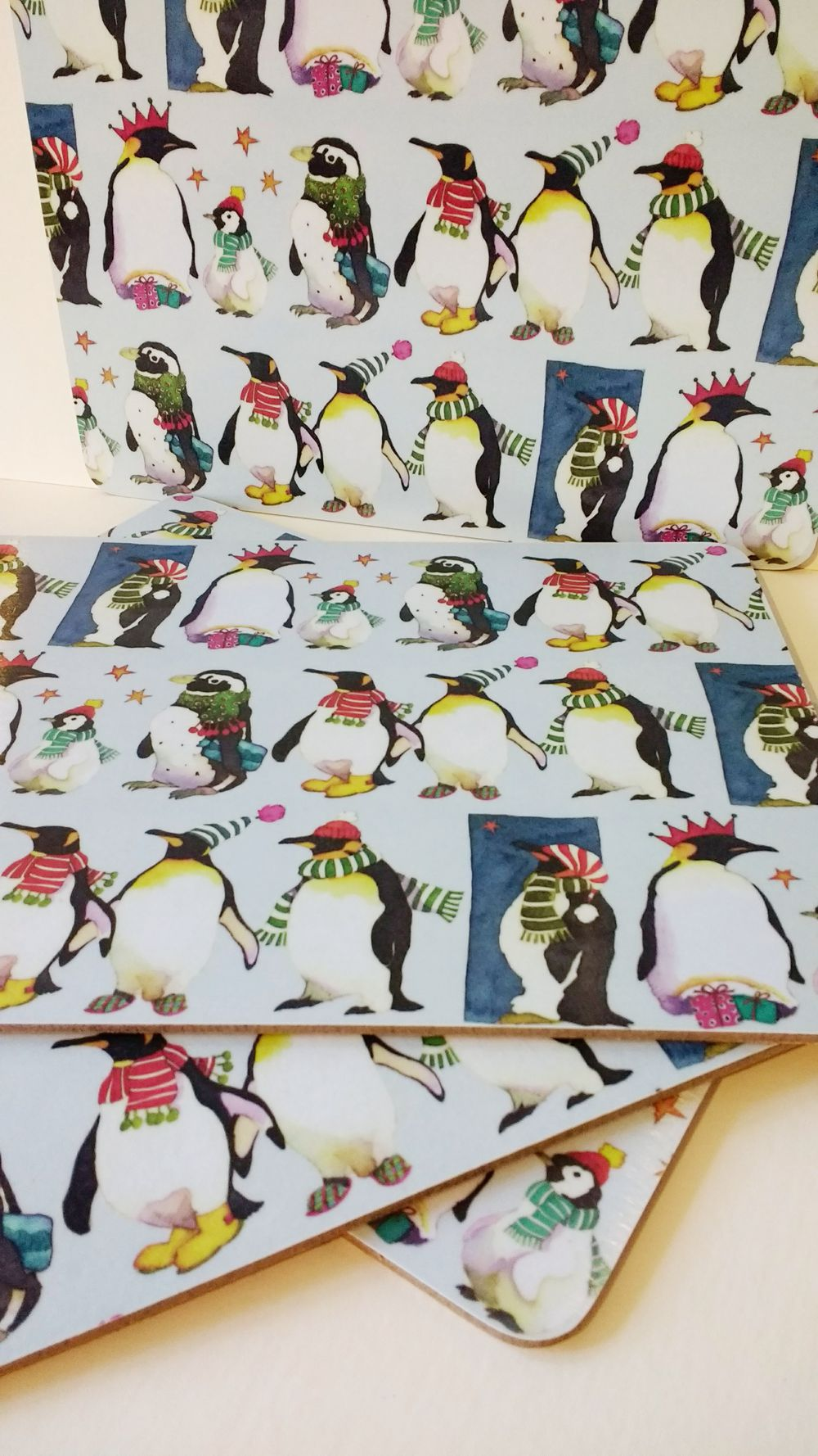 Emma Ball Christmas Penguins placemat