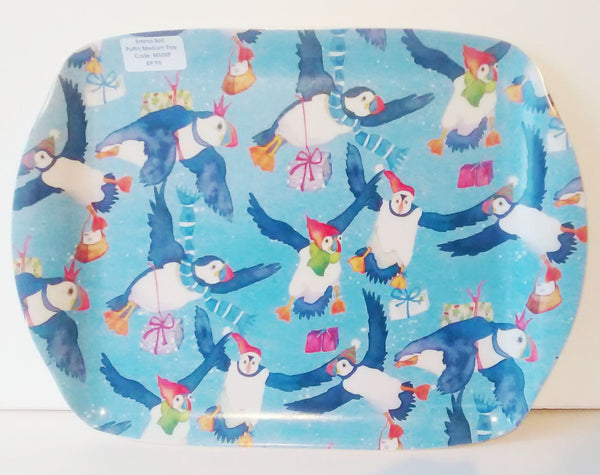 Emma Ball Christmas Puffins Tray