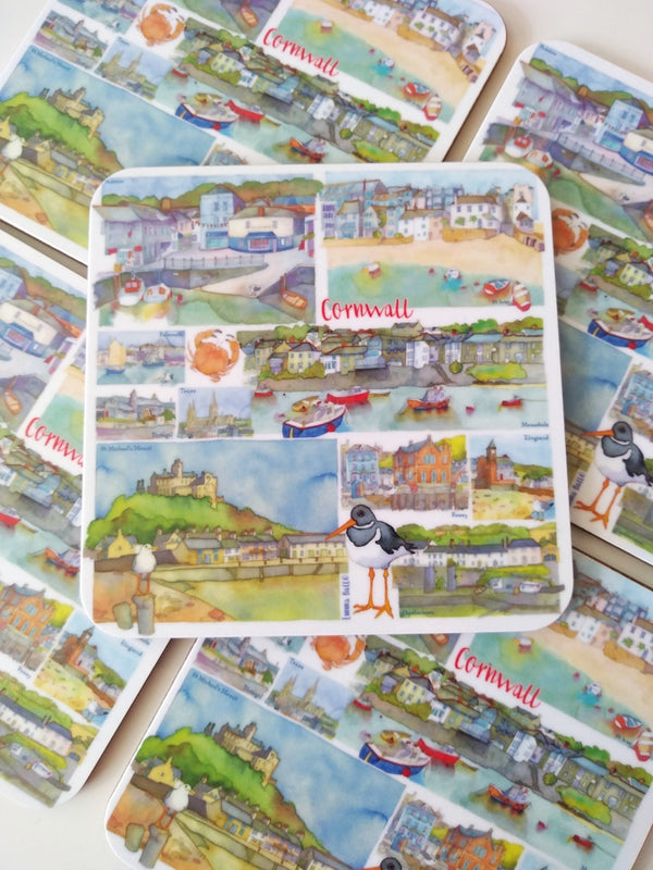 Emma Ball Cornwall Coasters