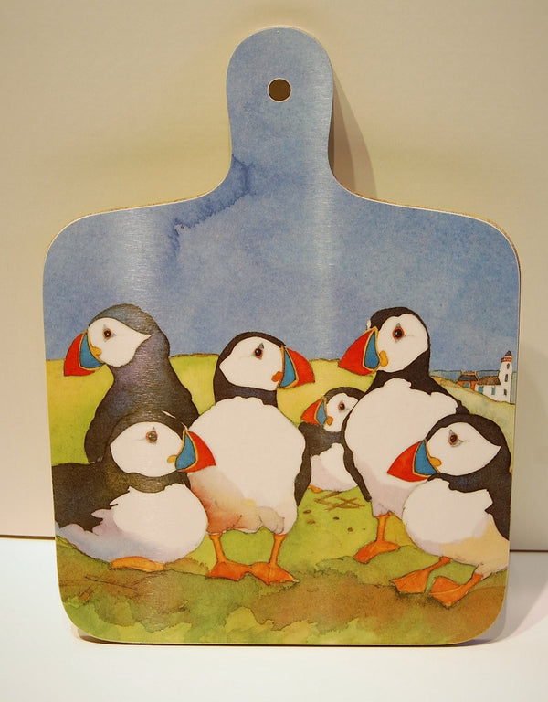 Emma-Ball-puffins-chopping-board