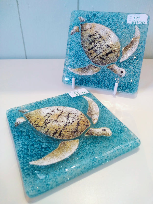 Glass Turtle Coaster