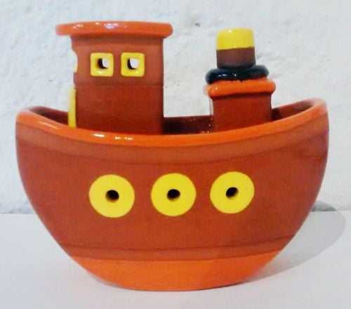 Ceramic Rocking Boat by Gwen Pritchard