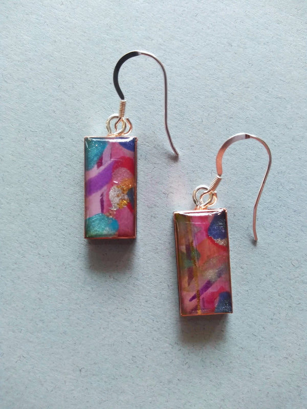 Hilary Bravo Pink & Blue earrings