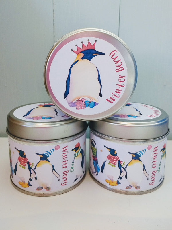 Winter-berries-penguin-tin- candle