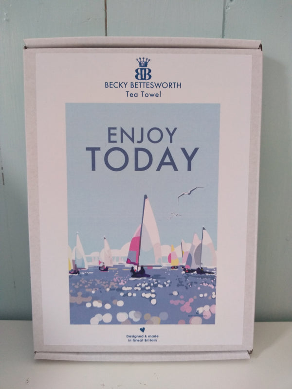 Becky Bettesworth Enjoy Today Tea Towel