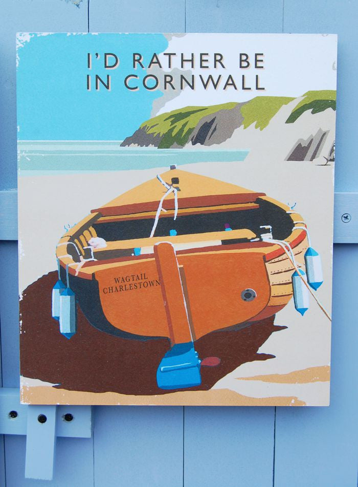 I'd  Rather Be In Cornwall, Charlestown sign