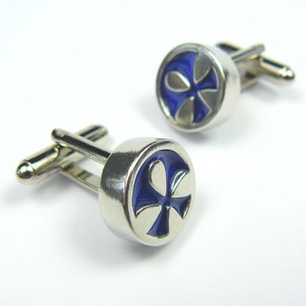 Koa, Blue Sea Flower Cufflinks