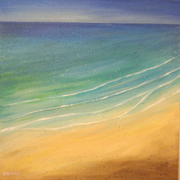"""Blue Waters"" original painting by Liz Hackney"