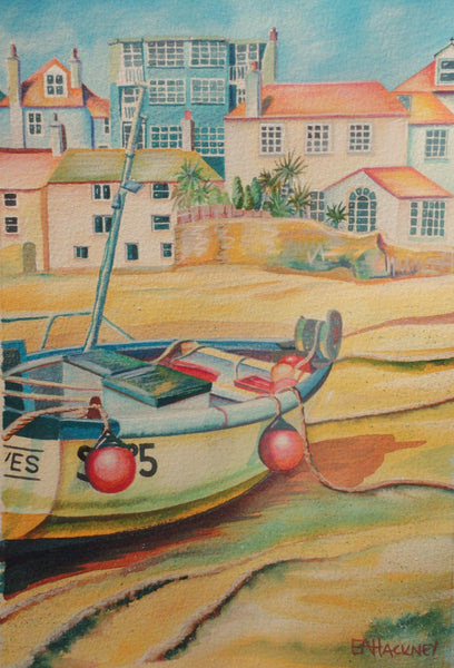 Liz Hackney Low Tide St Ives Original Painting Atishoo