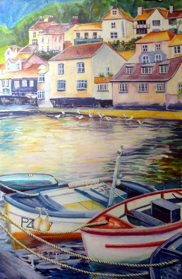 Liz Hackney Polperro  original painting