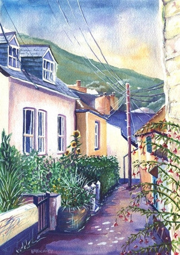Liz Hackney Sunflowers & Fuchsias, Port Isaac