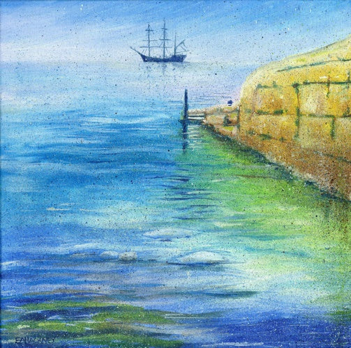 Liz Hackney, Tall Ship Charlestown medium print