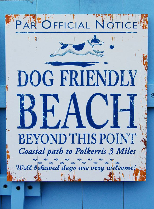 Par, Dog Friendly Beach Sign