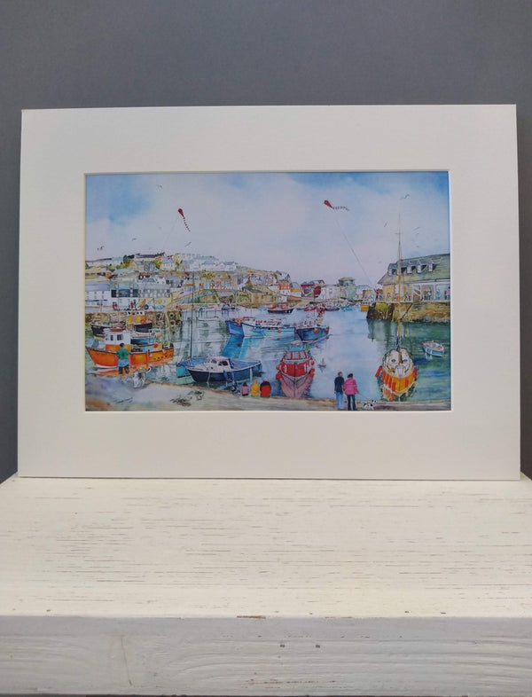 Medium Mevagissey print by Pat Thuysbaert