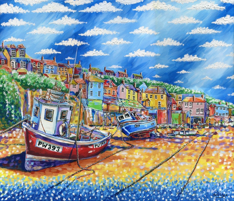 Boats-At-Rest-Port-Isaac-print-by-Paul-Clark