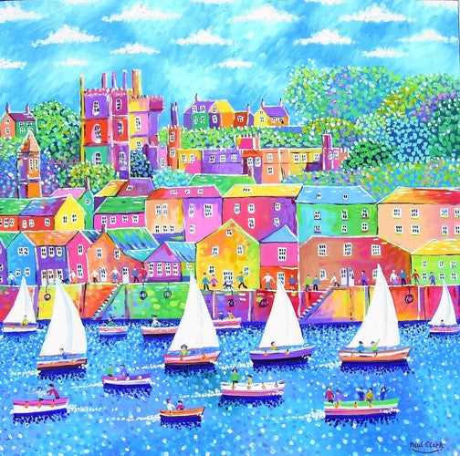 Fowey Sailboats print by Paul Clark