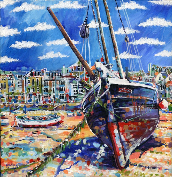 Low Tide St Ives, print by Paul Clark