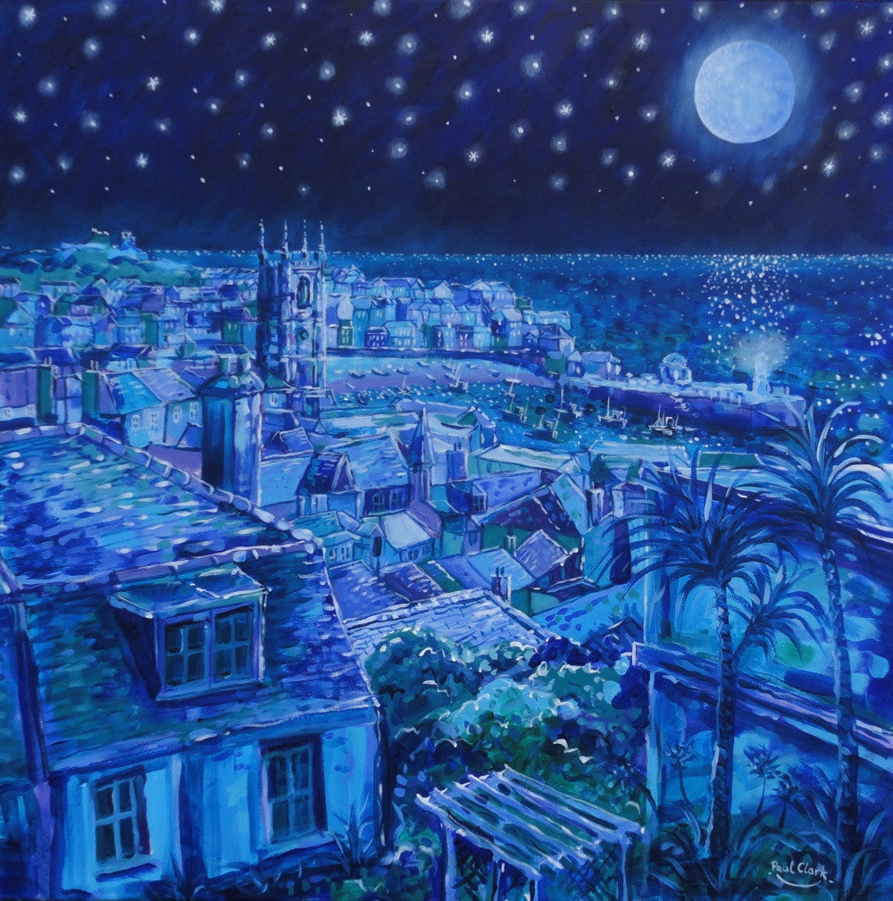 Moonlight-Over-St-Ives-Print-by-Paul-Clark