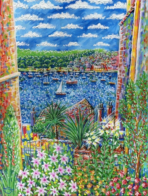 Over the Gardens, Fowey print by Paul Clark